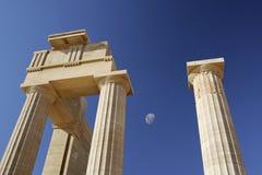 Acropole de Lindos images stock