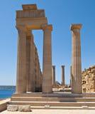 Acropole de Lindos Photos libres de droits