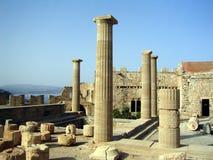 Acropole de Lindos Images libres de droits