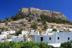 Acropole de Lindos Image libre de droits