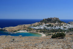 Acropole de Lindos Photos stock