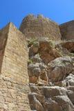 Acropole de Lindos, Rhodes Images stock