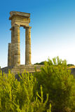 Acropole de Rhodes Photos stock