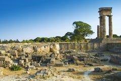 Acropole de Rhodes Photos libres de droits