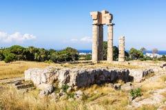 Acropole de Rhodes Photographie stock libre de droits