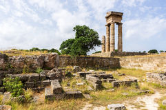 Acropole de Rhodes Images libres de droits