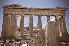 Acropole Partenon d'Atenas Grèce Images libres de droits