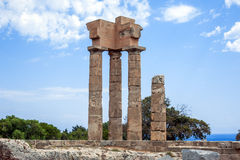 Acropole Rhodes Images libres de droits