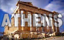 Acropoli的帕台农神庙 免版税图库摄影