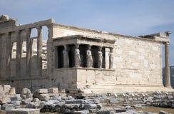 Acropoli Atene di Erechtheion Immagini Stock Libere da Diritti