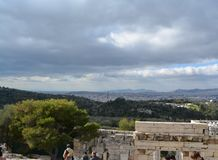 Acropoli a Atene - la costruzione antica fotografia stock