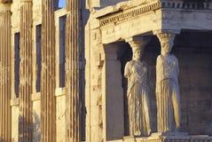 Acropoli di Atene Erechtheion Fotografie Stock