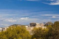 Acropoli di Atene, Grecia Immagine Stock