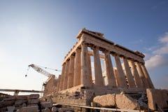 Acropoli di Atene, Grecia in costruzione Immagini Stock