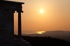 Acropoli di Atene, Grecia in costruzione Fotografia Stock