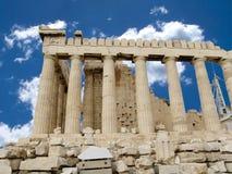 Acropoli di Athen con il tempiale del Parthenon fotografie stock