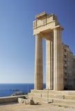 Acropoli di Lindos immagine stock