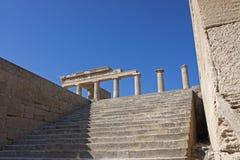 Acropoli di Lindos Immagini Stock Libere da Diritti