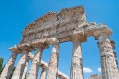 Tempie di Paestum Immagine Stock