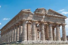 Tempie di Paestum Fotografia Stock Libera da Diritti