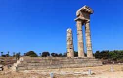 Acropoli di Rodi Immagini Stock Libere da Diritti
