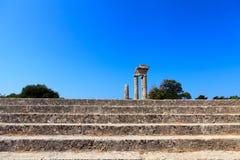 Acropoli di Rodi Fotografia Stock Libera da Diritti