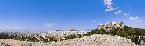 Acropoli ed Atene, Grecia Fotografia Stock