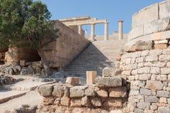 Acropoli Lindos Fotografie Stock Libere da Diritti