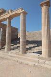 Acropoli Lindos Stockfotos