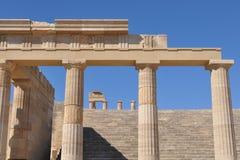 Acropoli Lindos, isola Rodi, Grecia fotografie stock libere da diritti