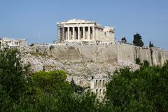 Acropolis. The great ancient monument of AThens, Acropolis Stock Image