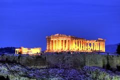 Acropolis. Of Athens, the greatest monument Stock Photo