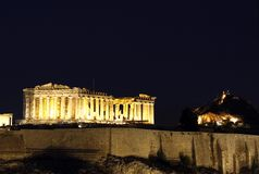 Acropolis. The ancient Greek monument, Acropolis of Athens Royalty Free Stock Images