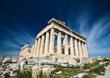 Acropolis. This shot was taken at Acropolis Hill of Athens in summer 2010 Stock Images