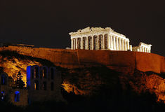 Acropolis. Athens Acropolis at night royalty free stock photography