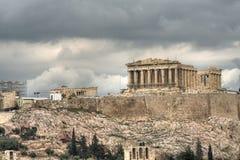 Acropolis. The Parthenon seen from Filapopos Hill stock image