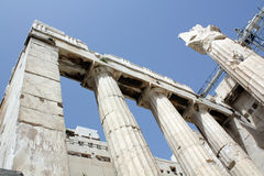 The Acropolis. A view of columns of Acropolis in greece. Good to visiting Royalty Free Stock Photography