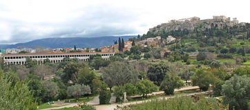 The Acropolis & Agora Royalty Free Stock Photography