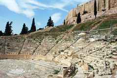 Acropolis Amphitheater Stock Photography