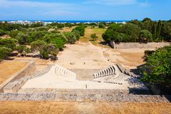Acropolis Ancient Stadium In Rhodes Stock Photo