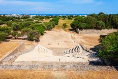 Acropolis Ancient Stadium in Rhodes. Acropolis Ancient Stadium in the Rhodes city in Rhodes island in Greece stock photo