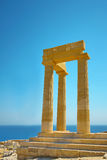 Acropolis antigo no Rodes. Greece Foto de Stock Royalty Free