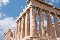 Acropolis of Athens. In Greece Stock Image