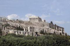 Acropolis Athens. View of the Acropolis and surrounding ruins Stock Images