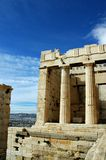 At the Acropolis in Athens. Greece. One of the most beautiful places on Earth royalty free stock image