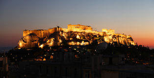 The Acropolis in Athens Stock Image