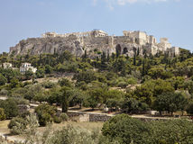 Acropolis From The Athens Agora Stock Image