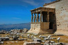 Acropolis of Athens. The Acropolis of Athens is an ancient citadel located on an extremely rocky outcrop above the city of Athens and contains the remains of Royalty Free Stock Photos