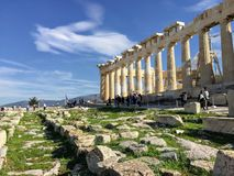 The Acropolis of Athens , Greece royalty free stock images