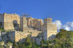 Acropolis in Athens as seen from Aeropagus Stock Photography